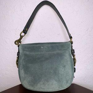 Coach Dark Blue Suede Handbag